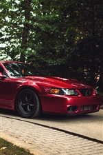 Ford Mustang Cobra red supercar