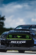 Preview iPhone wallpaper Ford Mustang RTR-X supercar, Formula Drift