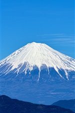 Preview iPhone wallpaper Fuji mountain, sky, blue, Japan landscape