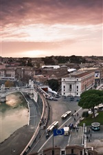 Preview iPhone wallpaper Italy city, Vatican, streets, buildings, houses, river, bridge