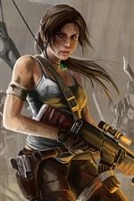 Lara Croft, Tomb Raider, art painting