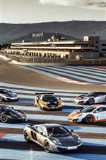 McLaren MP4-12C supercar in the race track