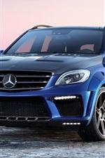 Mercedes-Benz ML63 AMG Inferno blue car