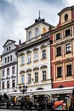 Preview iPhone wallpaper Prague, Czech, the Old Town Square, city, buildings, street