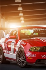 Preview iPhone wallpaper Red Ford Mustang Muscle car