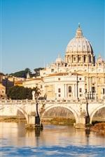 Preview iPhone wallpaper Rome, city, bridge, river, house