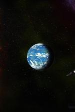 미리보기 iPhone 배경 화면 공간, 우주, 행성, 혜성, 유성, 우주선