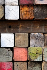 Preview iPhone wallpaper Wood, lumber, paint, colorful