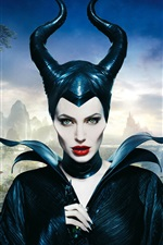 Preview iPhone wallpaper Angelina Jolie, Maleficent
