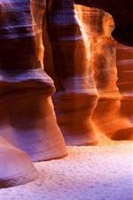Preview iPhone wallpaper Antelope Canyon, Arizona, USA, red rocks