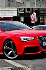 Preview iPhone wallpaper Audi RS5 red car side view