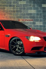 Preview iPhone wallpaper BMW M3 red car at night
