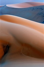 Preview iPhone wallpaper Before sunrise, dunes, sand