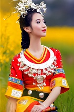 Preview iPhone wallpaper Chinese ethnic minority girls dress