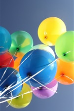 Preview iPhone wallpaper Colorful balloons in the blue sky