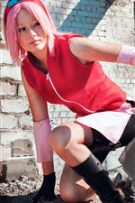 Preview iPhone wallpaper Cosplay girl, Naruto