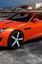 Preview iPhone wallpaper Jaguar F Type red supercar
