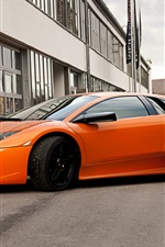 Preview iPhone wallpaper Lamborghini Murcielago LP640 orange supercar side view