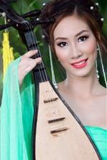 Pipa girl, music, Asia