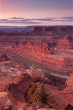 Preview iPhone wallpaper USA, red canyon, rocks, sky