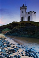 Preview iPhone wallpaper United Kingdom, Scotland, lighthouse, stream, grass