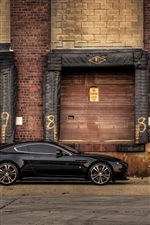 Aston Martin V12 Vantage Carbon Edition black car side view