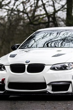Preview iPhone wallpaper BMW E92 M3 white car on road