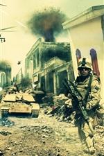 Battlefield 3: Aftermath, cidade, soldados
