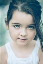 Olhar Menina bonito, retrato, bokeh