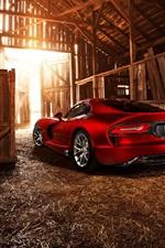 Preview iPhone wallpaper Dodge SRT Viper GTS 2013 red supercar