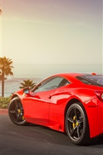 Ferrari 458 Speciale red supercar back view