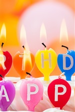 Preview iPhone wallpaper Happy birthday, candles, candle light