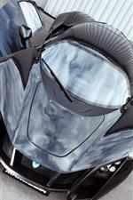 미리보기 iPhone 배경 화면 Marussia B2 블랙 초차 전면보기, 문 열어