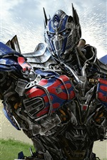 Preview iPhone wallpaper Optimus Prime Transformers 4