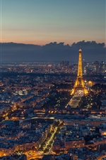 Preview iPhone wallpaper Paris, France, beautiful night, Eiffel Tower, city, evening, lights