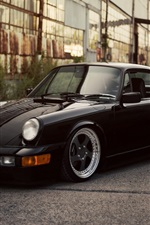 Porsche 911 Carrera black car