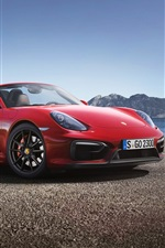 Porsche Boxster GTS red supercar