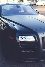 Rolls-Royce, black matte luxury car