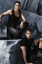 Preview iPhone wallpaper Shailene Woodley, Theo James, Divergent HD