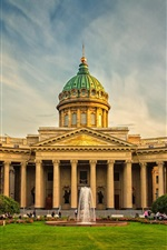 Preview iPhone wallpaper St. Petersburg, Russia, buildings, people