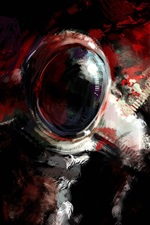 Preview iPhone wallpaper Astronaut, abstract design