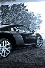 Preview iPhone wallpaper Audi R8 V10 black car