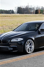 BMW M5 F10 black car side view