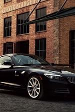Preview iPhone wallpaper BMW Z4 E89 sDrive35i black car at street