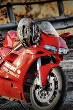 Preview iPhone wallpaper Ducati 748 red motorcycle
