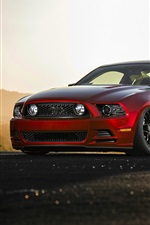 Ford Mustang GT red muscle car
