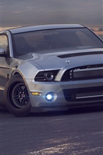 Preview iPhone wallpaper Ford Mustang Shelby GT 500 car front view