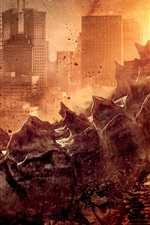 Preview iPhone wallpaper Godzilla movie 2014