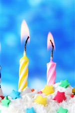 Preview iPhone wallpaper Happy birthday, candles, cake