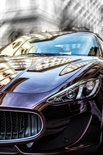 Preview iPhone wallpaper Maserati brown car front view
